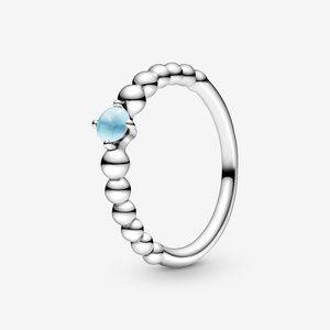 🔥PANDORA Sky Blue Beaded Ring